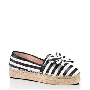Kate Spade Linds Black/White Stripe Espadrilles